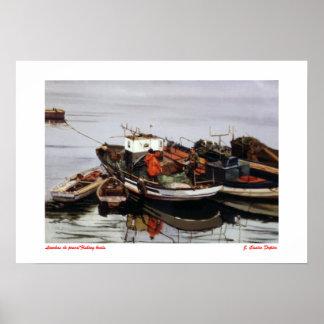 Fishing boats/Fishing boats Poster