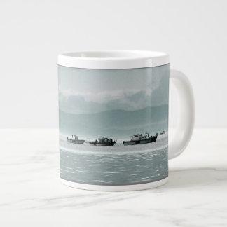 Fishing Boats Giant Coffee Mug