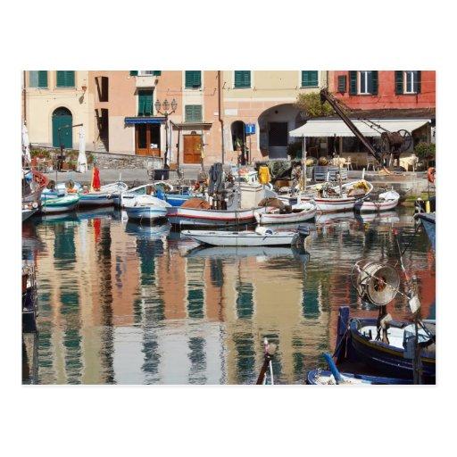 fishing boats in Camogli Postcard