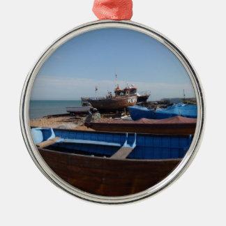 Fishing Boats In Kent Metal Ornament