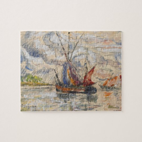Fishing Boats in La Rochelle, c.1919-21 Jigsaw Puzzle