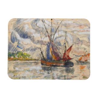 Fishing Boats in La Rochelle, c.1919-21 Rectangular Magnet