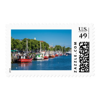 Fishing boats in Warnemuende (Germany) Postage