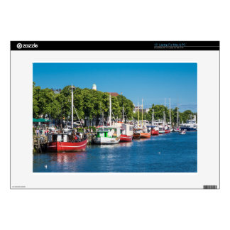 Fishing boats in Warnemuende (Germany) Skin For Laptop