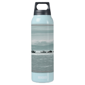Fishing Boats Insulated Water Bottle
