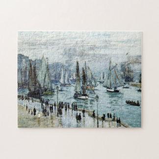 Fishing Boats Leaving Harbor Monet Fine Art Puzzle