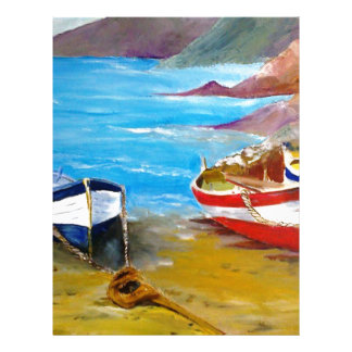 Fishing boats letterhead