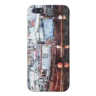 Fishing Boats Marina Watercolour Art 2 iPhone Case iPhone 5 Cover