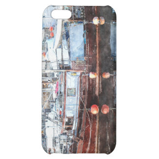 Fishing Boats Marina Watercolour Art 2 iPhone Case iPhone 5C Cases