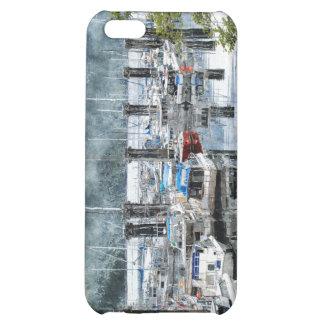 Fishing Boats Marina Watercolour Art iPhone Case iPhone 5C Cases