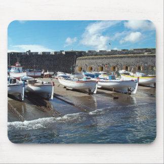 Fishing boats mouse pad