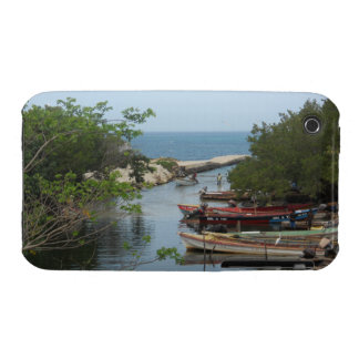 Fishing Boats, Negril River Jamaica Blackberry Cur iPhone 3 Case-Mate Case