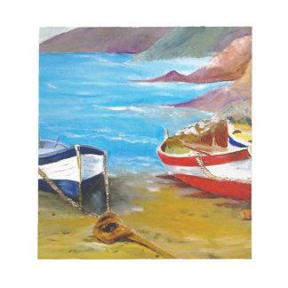 Fishing boats notepad