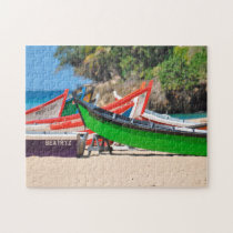 Fishing Boats on a Beach Puerto Rico. Jigsaw Puzzle