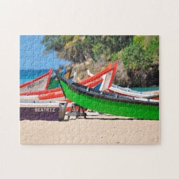 Beach Themed Fishing Boats on a Beach Puerto Rico. Jigsaw Puzzle