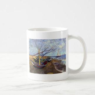 Fishing Boats on Beach Coffee Mug