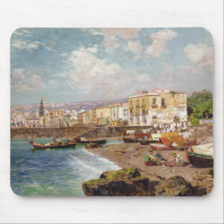 Fishing Boats on the Beach at Marinella, Naples (o Mouse Pad