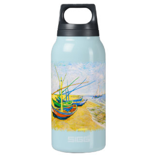 Fishing Boats on the Beach at Saintes-Maries Insulated Water Bottle