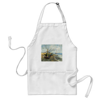 Fishing Boats on the Beach at Saints-Maries Adult Apron
