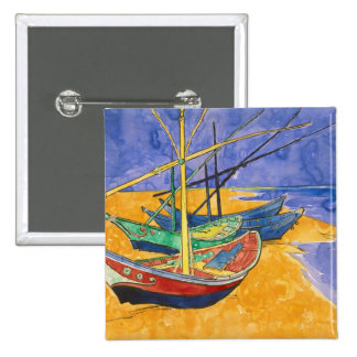 Fishing Boats on the Beach Pins