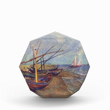 Beach Themed Fishing Boats on the Beach by Vincent Van Gogh Award