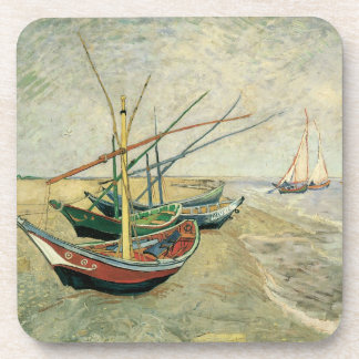 Fishing Boats on the Beach by Vincent van Gogh Coaster