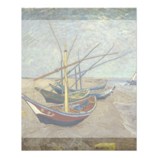 Fishing Boats on the Beach by Vincent Van Gogh Flyer