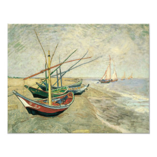 Fishing Boats on the Beach by Vincent van Gogh Invite