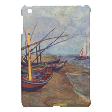 Beach Themed Fishing Boats on the Beach by Vincent Van Gogh iPad Mini Covers