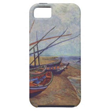 Beach Themed Fishing Boats on the Beach by Vincent Van Gogh iPhone SE/5/5s Case