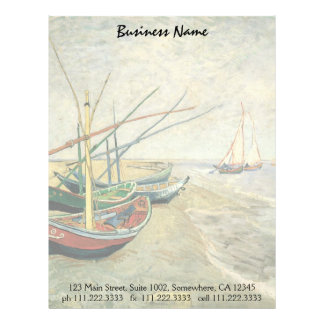Fishing Boats on the Beach by Vincent van Gogh Letterhead
