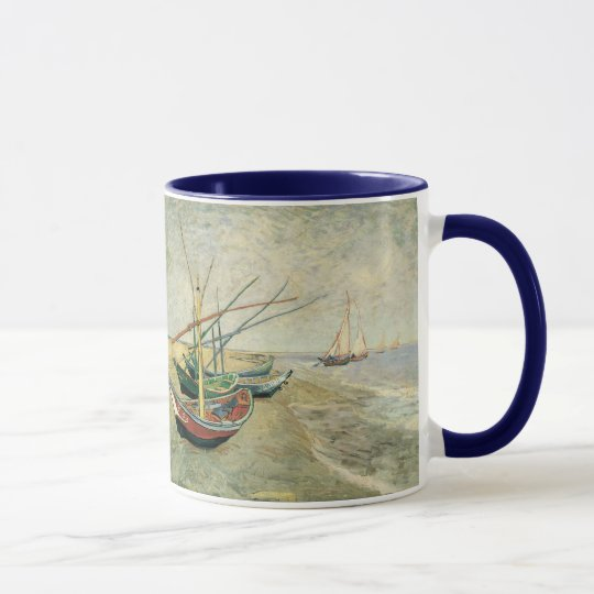 Fishing Boats on the Beach by Vincent van Gogh Mug