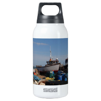 Fishing Boats On The Beach Insulated Water Bottle