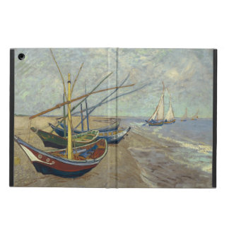 Fishing boats on the beach iPad air cases