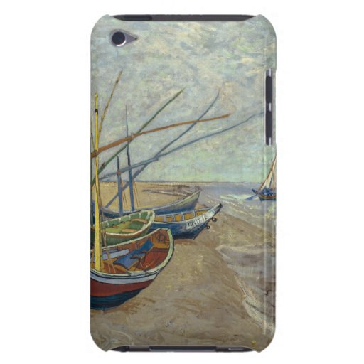 Fishing boats on the beach iPod touch case