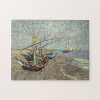 Fishing boats on the beach jigsaw puzzle