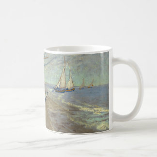 Fishing boats on the beach coffee mugs