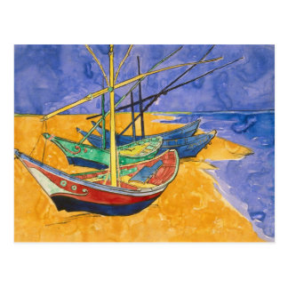 Fishing Boats on the Beach Post Cards