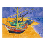 Fishing Boats on the Beach Postcard