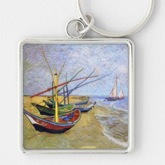 Fishing Boats on the Beach, Vincent Van Gogh Key Chains