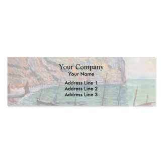 Fishing Boats on the Shore by Maxime Maufra Business Card Template