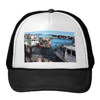 Fishing Boats Painting Mesh Hats