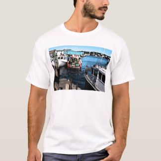 Fishing Boats Painting T-Shirt
