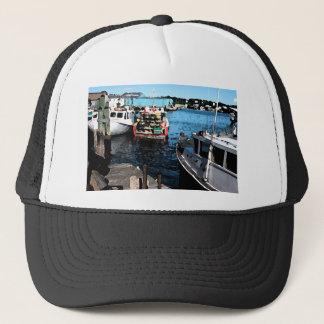 Fishing Boats Painting Trucker Hat
