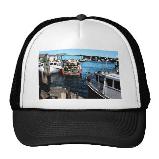 Fishing Boats Painting Trucker Hat
