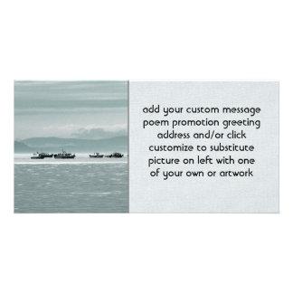 Fishing Boats Customized Photo Card