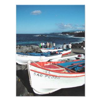 Fishing boats photo print