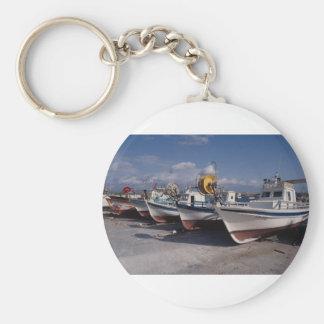 Fishing boats, Polis, Cyprus Key Chains