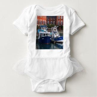 Fishing boats, Portsmouth, England Baby Bodysuit