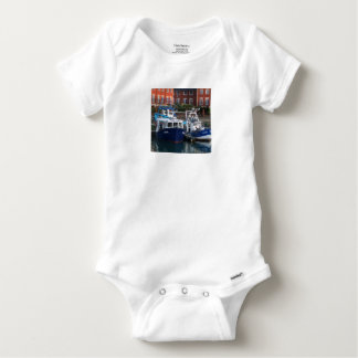 Fishing boats, Portsmouth, England Baby Onesie